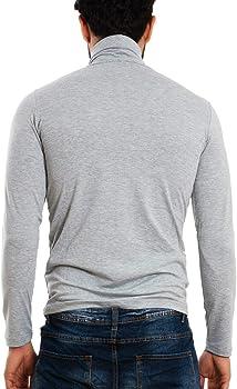Toocool LO-A6957 - Camiseta de manga larga para hombre con cuello alto gris M: Amazon.es: Ropa y accesorios