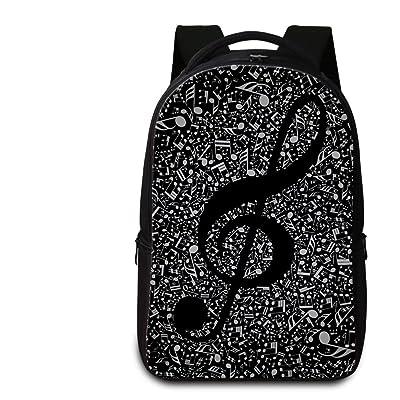 CrazyTravel Stylish School Laptop Shoulder Backpack Books Bags Case For Teens Girls Men Hiking Camping Ballet Music Print