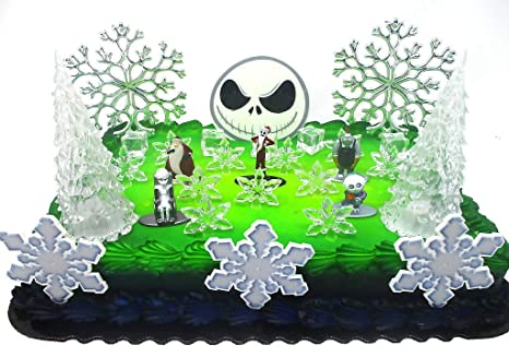 Image Unavailable Not Available For Color Nightmare Before Christmas Winter Wonderland Themed Birthday Cake