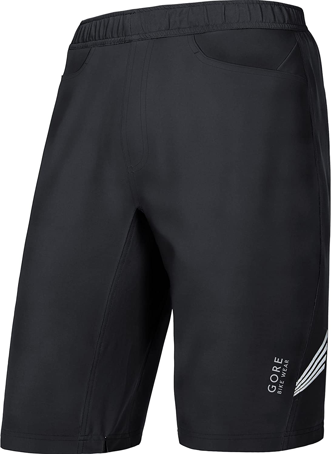 Size L GORE Selected Fabrics TSPELE Integrated inner lining with seat padding 2in 1 Shorts+ Black GORE BIKE WEAR Men/'s 2 in 1 Knee-length Cycling Shorts