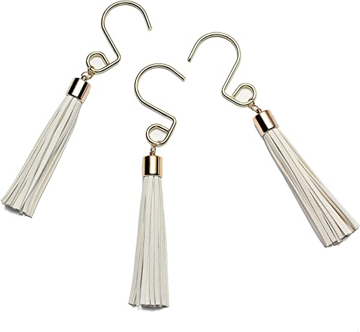 Gold Shower Curtain Rings Hooks Rustproof Stainless Steel Shower Curtain Hooks Decorative S Shower Hooks Set of 12