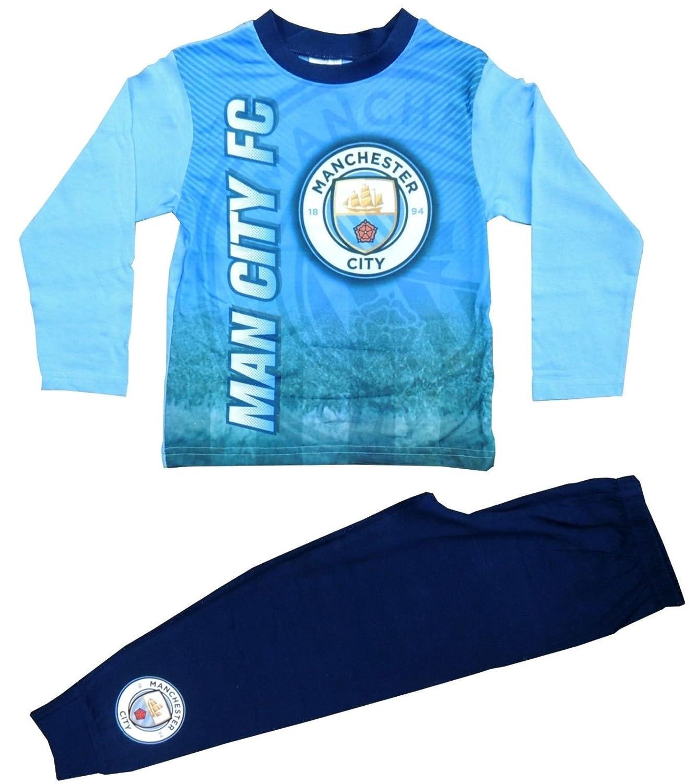 Jungen Offiziell Manchester City Fu/ßball Club mcfc lang Pyjama Gr/ö/ßen von 4 to 12 Years