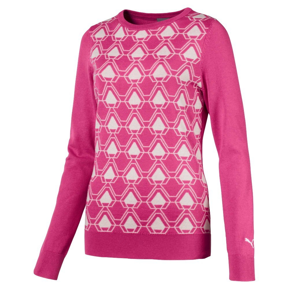 Puma Golf Women's 2018 Dassler Sweater, Small, Carmine Rose by PUMA
