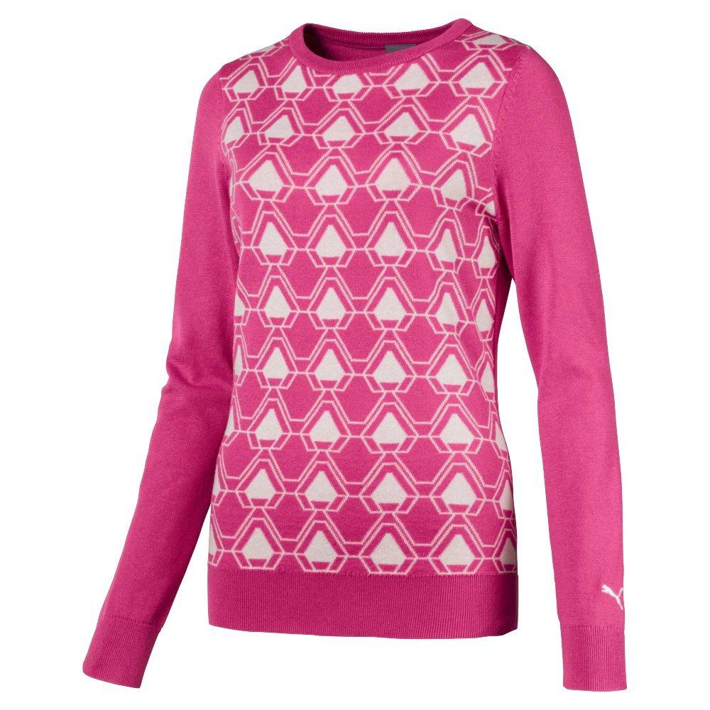 Puma Golf Women's 2018 Dassler Sweater, X-Small, Carmine Rose