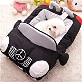 """INN Design-new Deluxe Cute Cozy Black Car Pet Beds Cover for Small-medium Dog 27.6""""x19.7""""x7.9"""""""