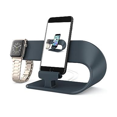iphone iwatch dock. apple watch stand, iphone ipad iwatch/ charging dock (black) iphone iwatch