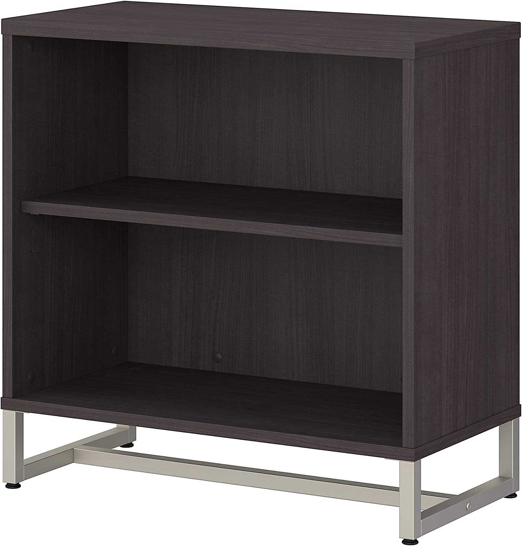 Bush Business Furniture Office by kathy ireland Method 2 Shelf Bookcase Cabinet, Storm Gray