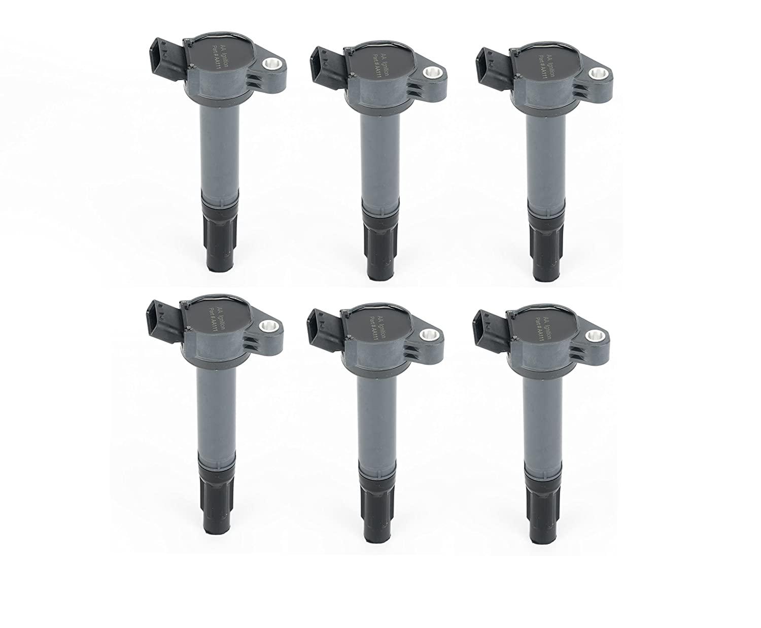 Ignition Coil Set of 6 - 90919-A2007 - Toyota & Lexus 2.7L, 3.5L V6 - Ignition Coil Pack Lexus, Camry V6, Avalon, Sienna, Rav4 and More Image