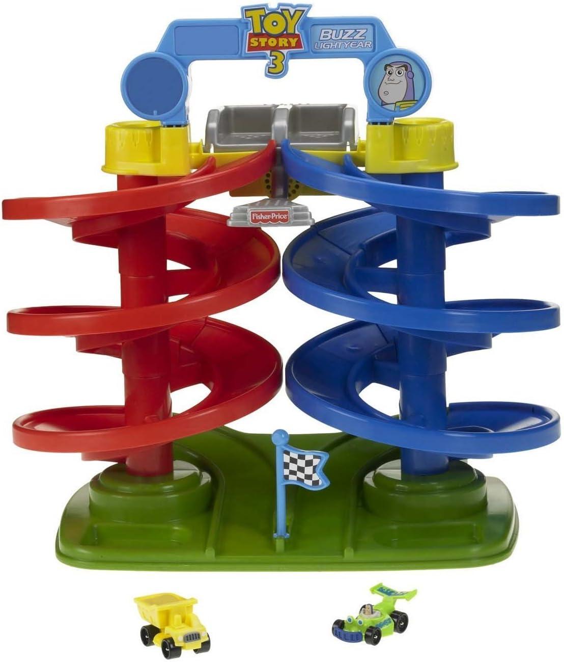 Amazon Com Fisher Price Disney Pixar Toy Story 3 Big Spiral Speedway Toys Games