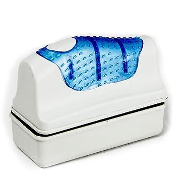 Limpiador de cepillo magnético para acuario, pecera de cristal, algas flotantes de