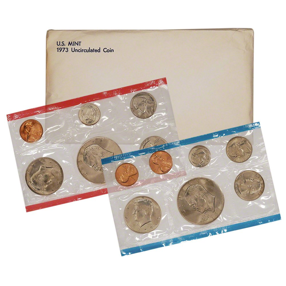 1973 United States Mint Uncirculated Coin Set in Original Government Packaging