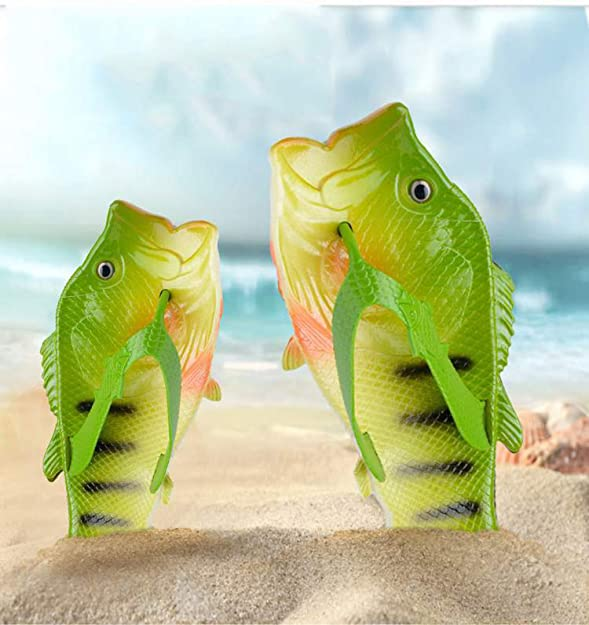 Amazon.com | Slippers Family Fun Couple Explosive Models Casual Personality Flip-Fantasy Creative Fish-Shaped | Slippers