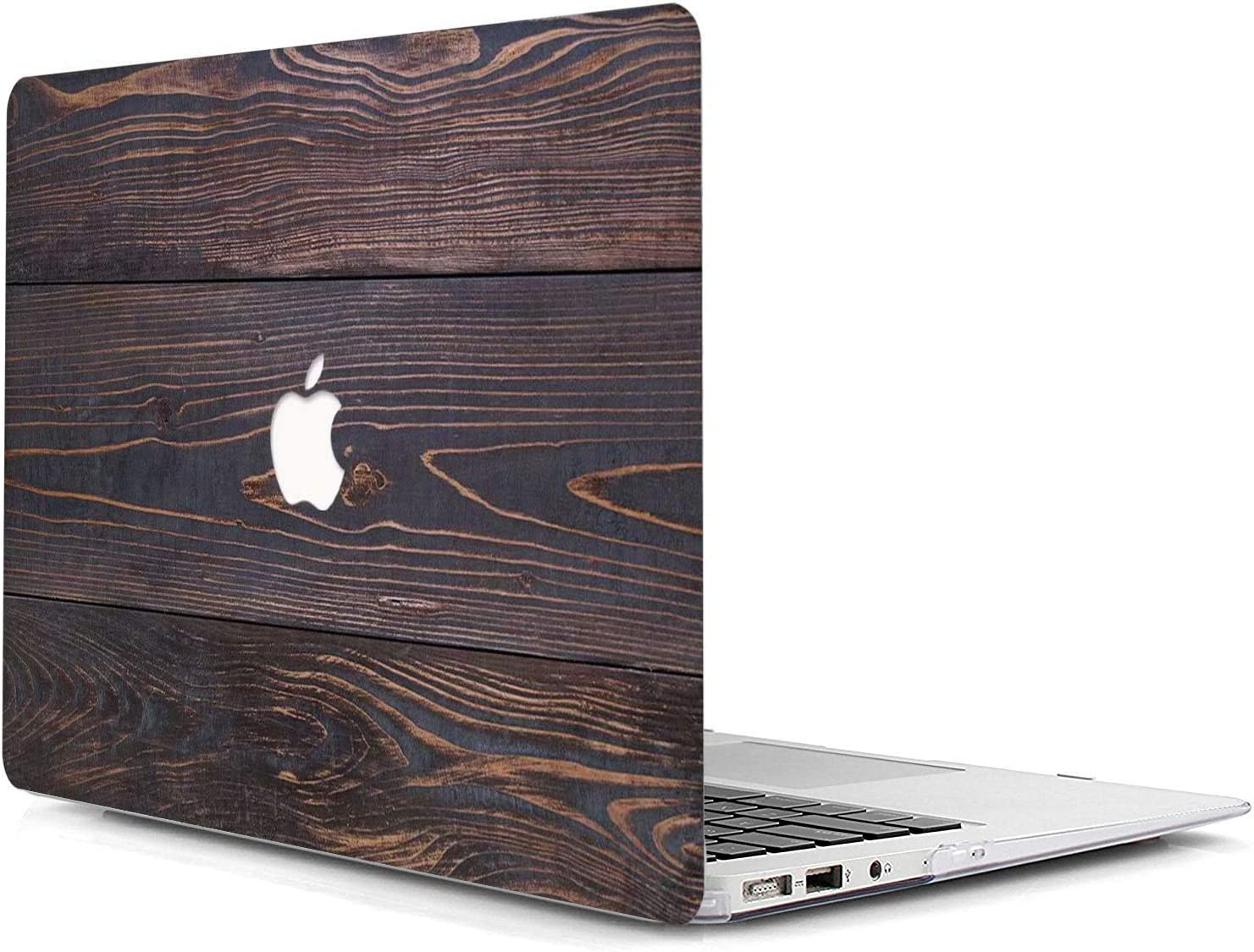MacBook Pro 13 Case A2159/A1989/A1706/A1708,AJYX Plastic Wood Pattern Hard Case Shell Cover Compatible Newest MacBook Pro 13 Inch with/Without Touch Bar and Touch ID - MW393 Brown Wood Grain