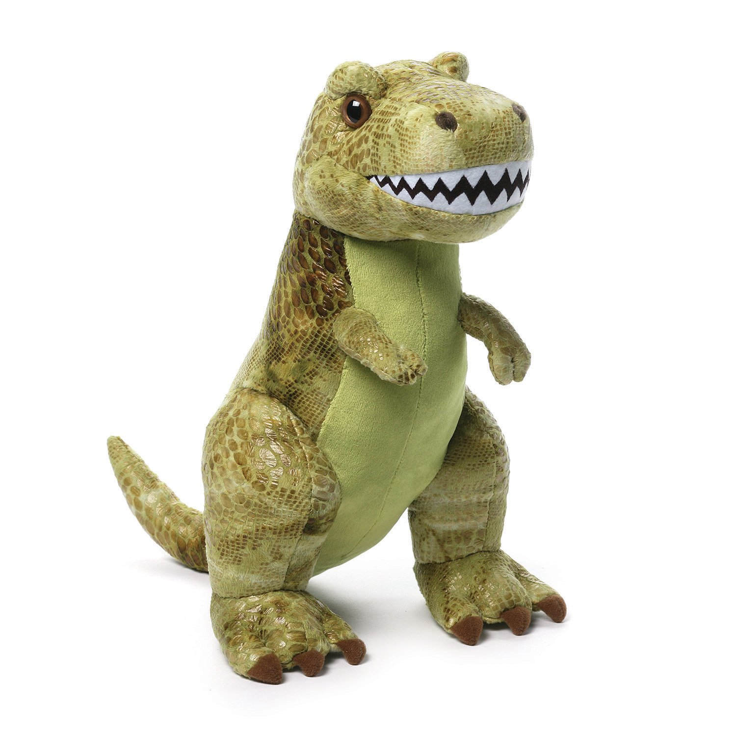 Amazon Com Gund Rexton T Rex Stuffed Animal Plush Green 13 Toys