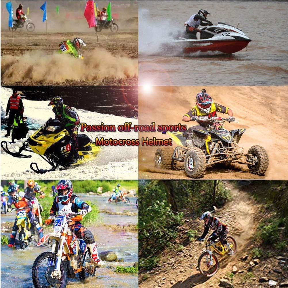 Adulte Casque de Cross Set avec Lunettes Gants Masque LEENY Casque de Motocross Motos Sports DH Enduro Off-Road Casque VTT Quad VTT Motocyclettes Casques 4 Saisons Unisexe Jaune Noir