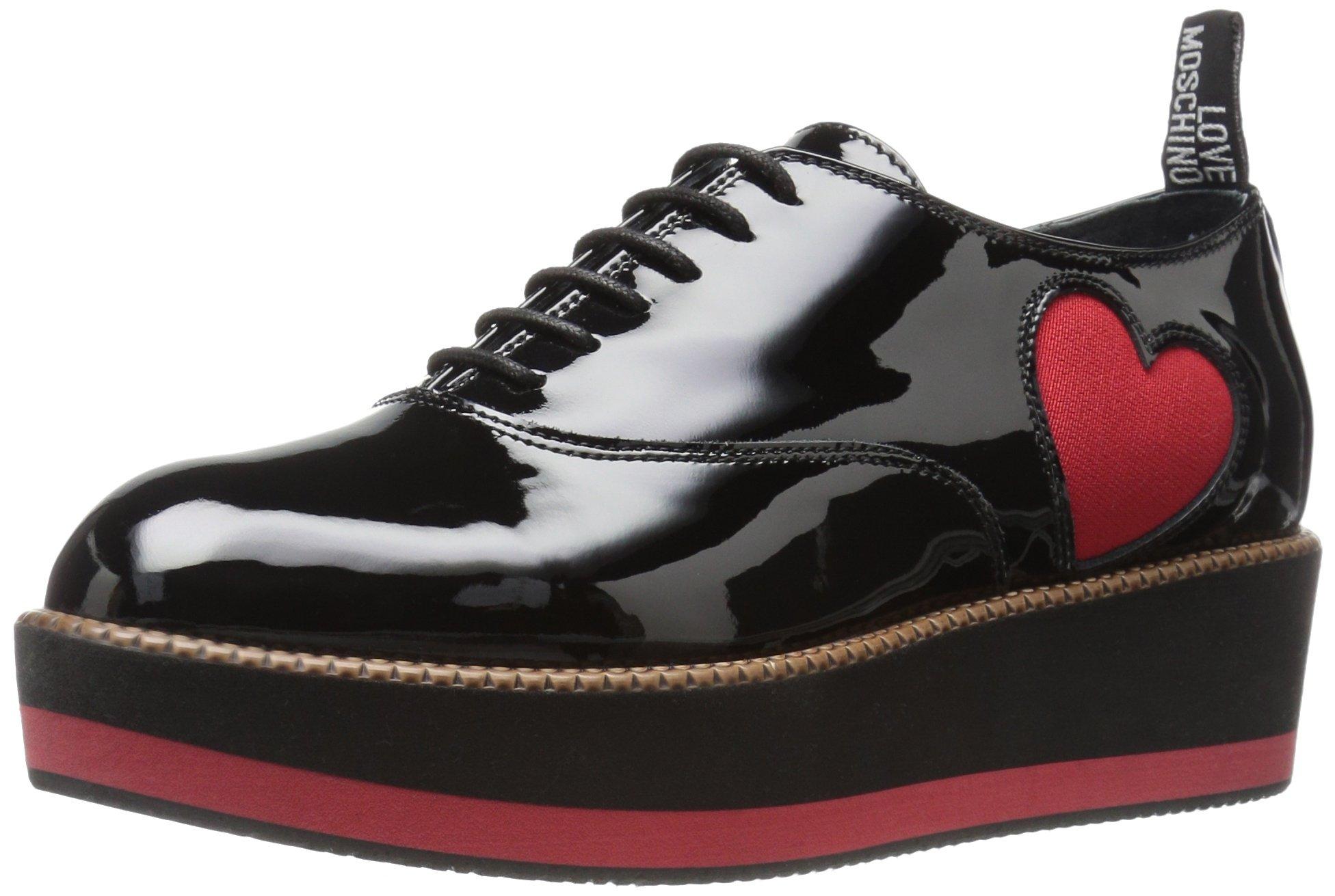 Love Moschino Women's Patent Heart Loafer Fashion Sneaker
