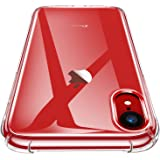 AINOYA iPhone XR ケース iPhone XR カバー TPU シリコン ケース 落下防止 ワイヤレス充電対応 ソフト 擦り傷防止、軽量TPU素材 ケース ソフト クリア (透明)