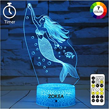 Small Size Mermaid Doll With LED Light 7.9 inch High Kids Girls Toy Gift Classic