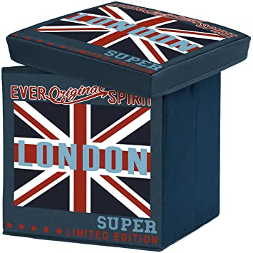 Londres - Reposapiés Londres taburete baúl baúl almacenaje gigante ...