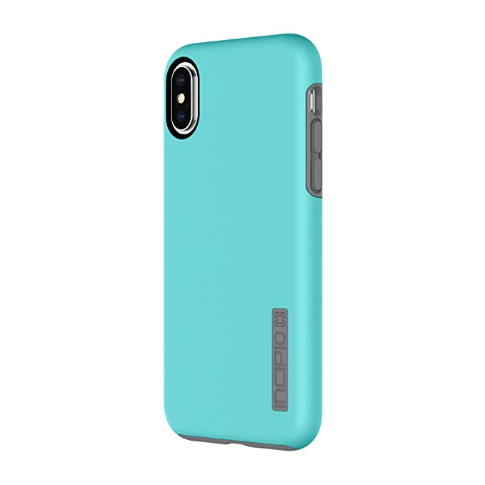designer fashion e2f85 1c95b Incipio DualPro iPhone X Case with Shock-Absorbing Inner Core & Protective  Outer Shell for iPhone X - Turquoise/Charcoal