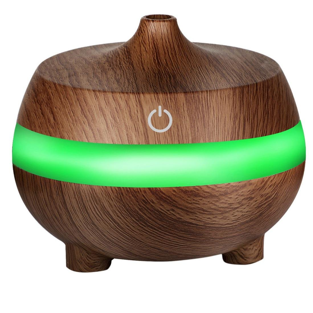 USB Air Aroma Essential Oils Diffuser - Saihui 300ML LED Ultrasonic Classic Wood Grain Aroma Aromatherapy Humidifier 7 Colors Lights Air Humidifiers Purifiers for Baby Room, Bedroom, Office (Black)