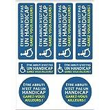 Planche A4 de stickers place handicapée adhésif autocollant - C31