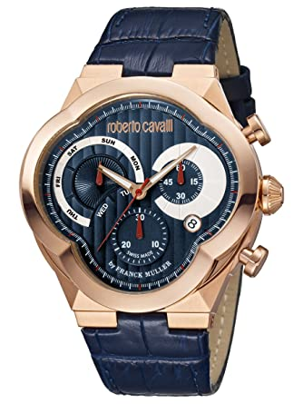 Roberto Cavalli by Frank Muller CLOVER RV1G028L0016 Mens Rose Gold Watch