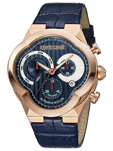 d01be6a7ea45 Roberto Cavalli por Frank Muller Clover rv1g028l0016 reloj para hombre