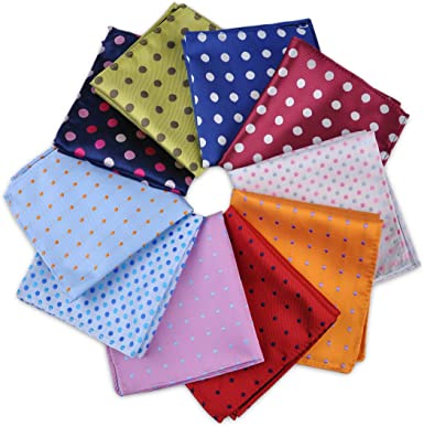 9.8/'/'Fashion Men/'s Pocket Square Silk Polka Dot Jacquard Wedding Party Hanky