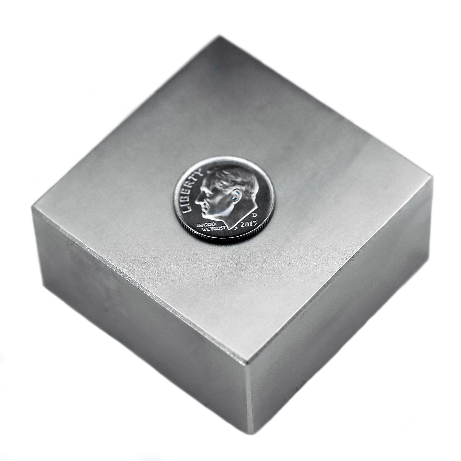 Applied Magnets 2'' x 2'' x 1'' Grade N52 Neodymium Block Magnet