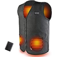 SHAALEK Chaleco Calefactable Hombres Con Bateria Moto,Chaqueta Calefactable Chaleco Calefactable USB De 10000mAh…