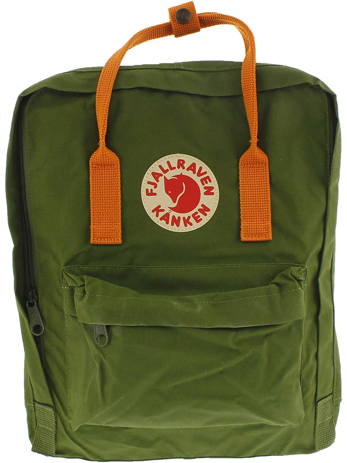 Leaf Green Burnt orange Fjallraven  Kanken Classic Backpack for Everyday