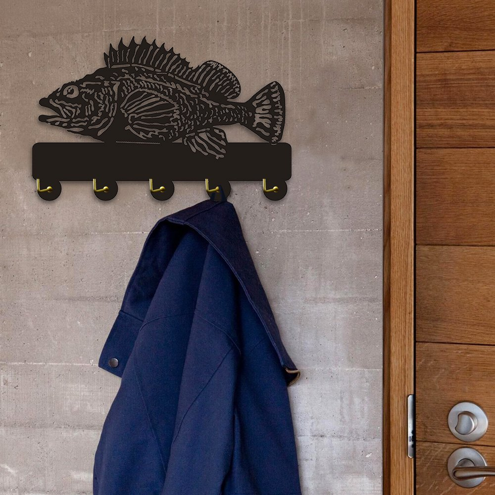 Rock Fish Shape Design Sea Animals Creative Wall Decor Art Wall Hooks Clothes Coat Towel Hooks Keys Holder Bathroom Kitchen Hanger Decor Hooks by The Geeky Days (Image #3)