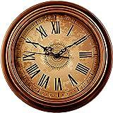 Foxtop 30 cm Orologio da Parete Silenzioso per la Casa della Decorazione della Parete, Stile Vintage Orologio da Parete