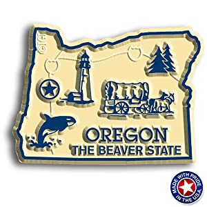 Oregon State Map Magnet