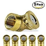 "KUWAN 5Pack 1/4"" Brass Misting Nozzle Spray Single"