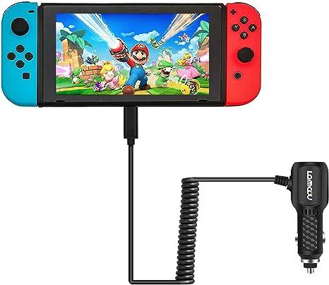 Lammcou Cargador de Coche USB para Switch DC Car Charger Adaptador De Corriente De Carga Rápida Tipo C Puerto Cable para Smartphone Super Mario Pokemon Splatoon Minecraft Lets Sing 2019 FIFA: Amazon.es: