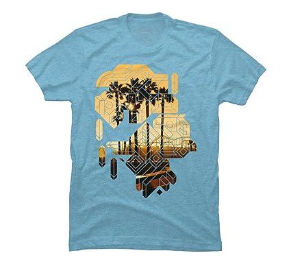 Beach T Shirt Design | Amazon Com Sunset Beach Shape Geometric Men S Graphic T Shirt