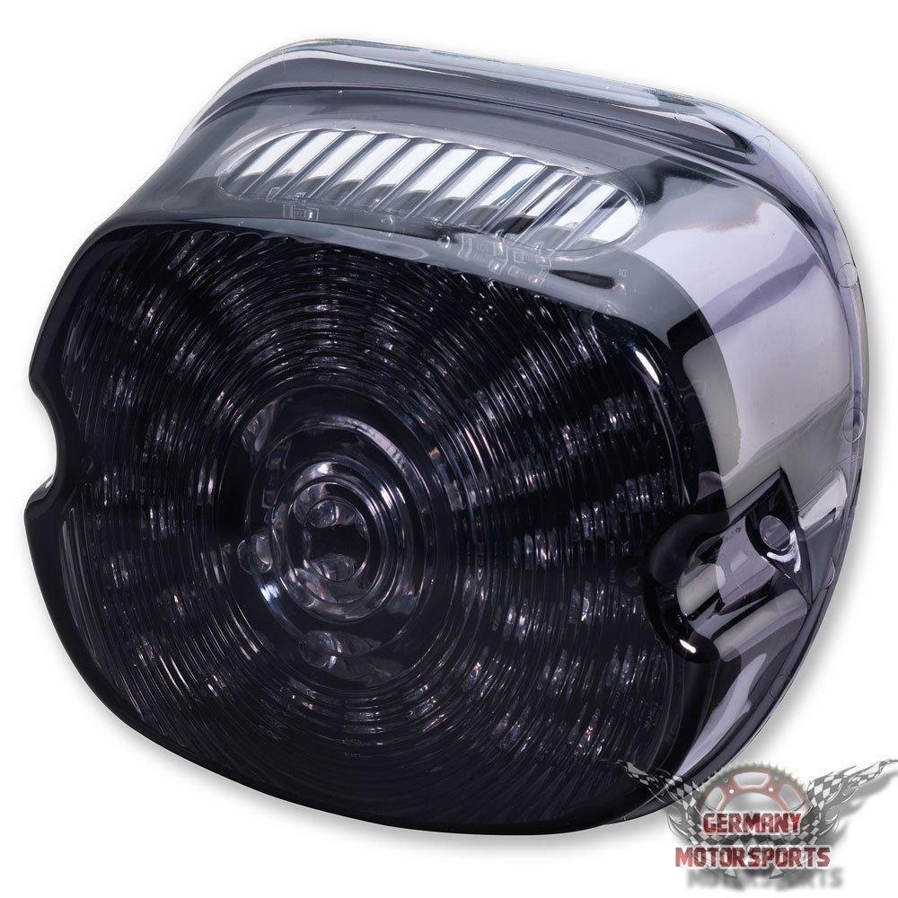 Feu arri/ère LED sport Compatible avec Harley Noir teint/é