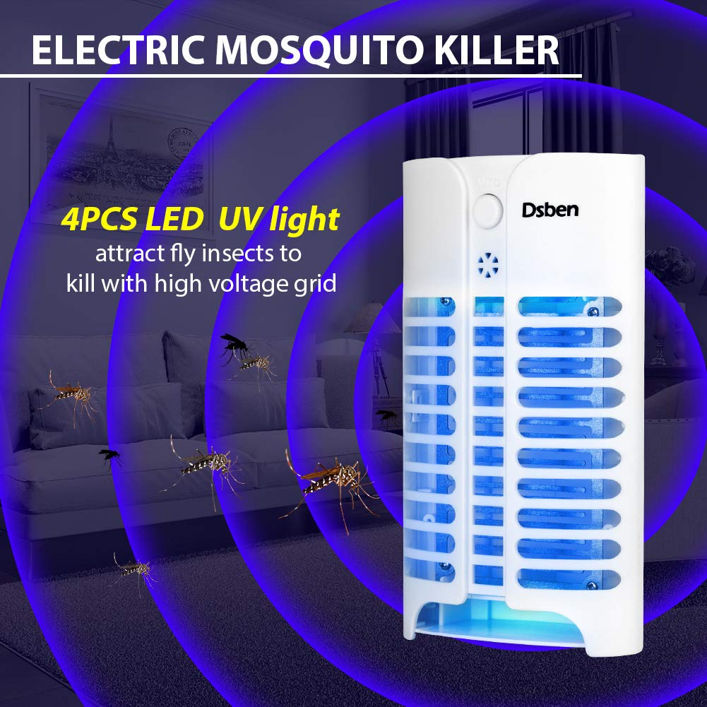 Dsben Electric Indoor Bug Zapper Plug In Mosquito Killerelectric Killerinsect Killermosquito Killer Lamp With Light Sensor 215 Sqft Coverage Mini Insect For Home Kitchen