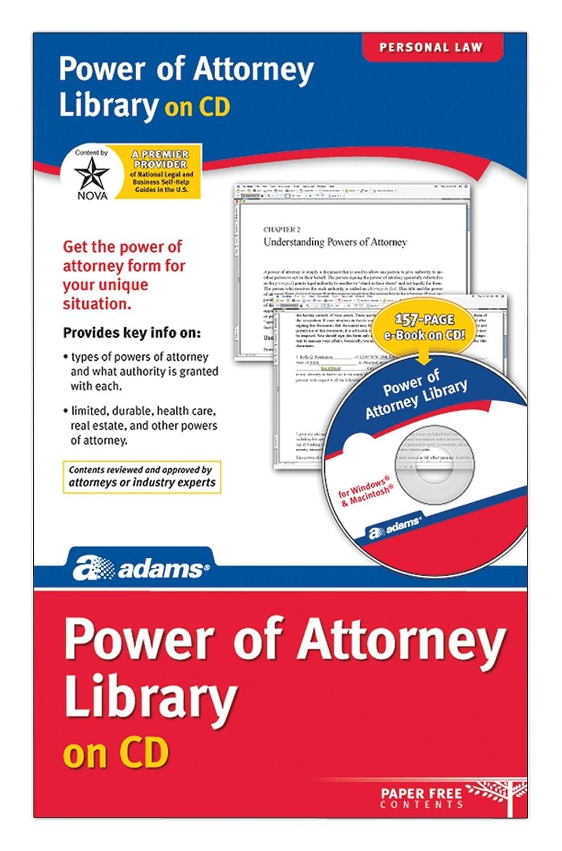 Amazon Adams Alc632 Power Of Attorney Library On Cd Al632