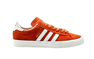 the best attitude 39ddb 9f739 Image Unavailable. Image not available for. Colour  adidas Skateboarding  Campus Vulc II ADV, tactile orange-chalk white-chalk white