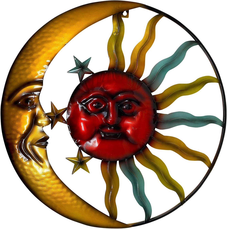 Sunface Moon Stars Celestial Metal Art Interior Exterior Wall Garden Decor 20
