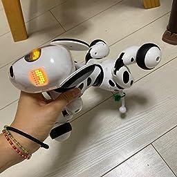Amazon Aukfa ロボット犬のおもちゃ 子供のおもちゃ 電子ペット 子供ロボット 親子のおもちゃ 犬 動く おもちゃ 男の子 女の子 誕生日プレゼント スマートドッグトーキング おもちゃ ホワイト 電動ロボット おもちゃ