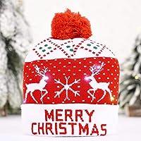 FreeLeben Kerstmuts Feestdagdecoratie Hoed Met Led-verlichting Kerstmanpoten/Laat Het Sneeuwen/Oh Herten/Vrolijk…