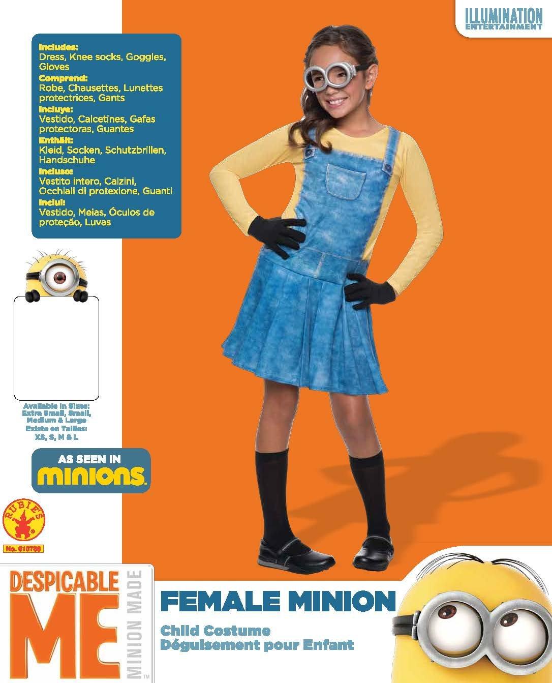 Amazon.com: Rubies Costume Minions Female Child Costume, Small: Toys & Games