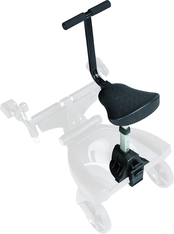 Fillikid Buggy-Board 180° mit 3fach verstellbaren Sitz | Filliboard Mitfahrbrett grau | universal passend für alle Kinderwägen & Buggies | Rollbrett für Kinderwagen Buggy Jogger bis 20 kg, Größe:Filliboard 180° ohne Zusatzsitz