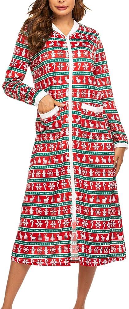 Pijama para Mujer, Vestido de Dormir, camisón de Noche, Manga ...