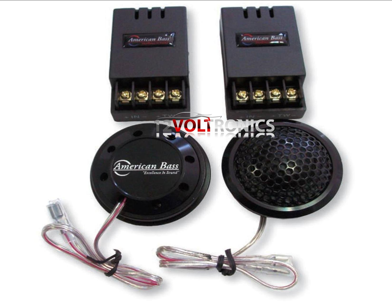 AMERICAN BASS SYMPHONY2.5 TWEETER 1 1/4'' 160W 3 WAY SURFACE ANGLE OR FLUSH MOUNT SILK DOME & PASSIVE XOVER