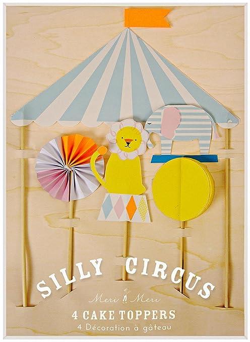 Amazon.com: Meri Meri Silly Circus Cake Topper: Toys & Games
